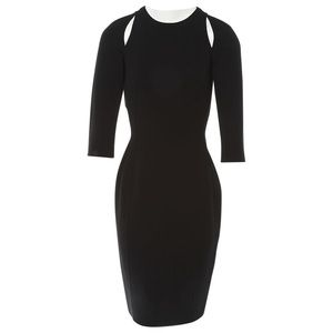 MICHAEL KORS Black cutout sheath dress
